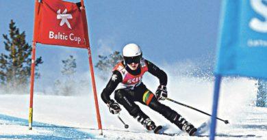 Sėkmingi jaunųjų Druskininkų kalnų slidininkų startai