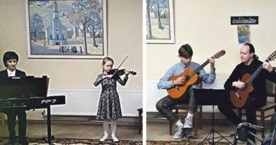 Druskininkų globos ir slaugos namuose – meno mokyklos stygininkų koncertas