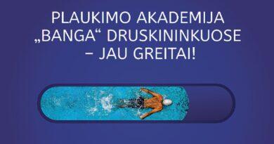 """Druskininkuose duris atvers didžiausia Lietuvoje plaukimo akademija """"Banga"""""""